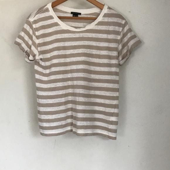 fafa35b2313 Theory Striped Linen T Shirt. M 5ab13fdf2ab8c53f32421022